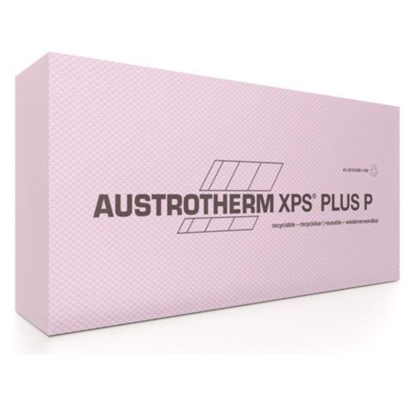 Austrotherm XPS PLUS P lábazati szigetelés sima élképzéssel-bordázott felülettel  --10cm