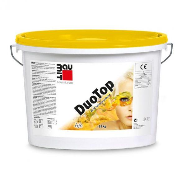 Baumit DuoTop 1.színcsoport műgyanta kötőanyagú Kapart 1,5 mm homlokzati vakolat  - 25kg/vödör