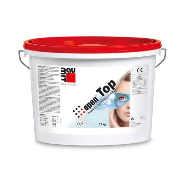 Baumit OpenTop FEHÉR légáteresztő Kapart 3 mm vakolat vályogházakhoz, vizes falakhoz - 25kg/vödör