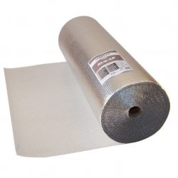 Masterplast ISOFLEX ALU-LP ERŐSÍTETT hőtükrös légbuborékos párazáró fólia padlófűtéshez 60m2/tekercs