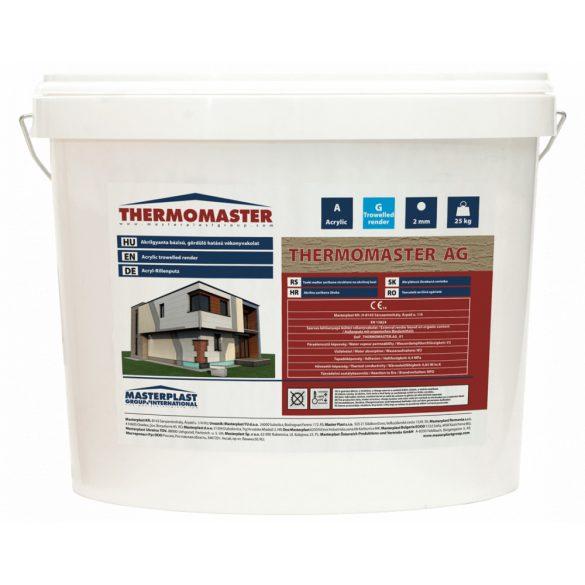 THERMOMASTER AKRIL vékonyvakolat 2 mm gördülőszemcsés 0 színcsoport - 25kg/vödör